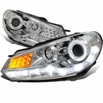 Chrome Halo LED R8 Style Projector Headlights