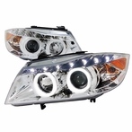Chrome Halo R8 Style Projector Headlights