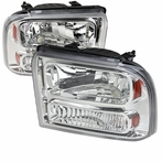Chrome Headlights with Amber Reflector