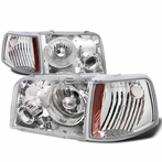 Chrome Headlights + Projector Fog Lights + Corner Lights