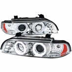 Chrome Icy Halo Projector Headlights
