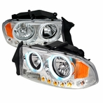 Chrome LED CCFL Halo Headlights