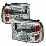 Chrome LED Crystal Headlights