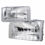 Chrome LED Euro Headlights