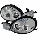 Chrome LED Halo Projector Headlights