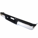 Chrome Light Duty Rear Bumper Step W/O Sensor Holes