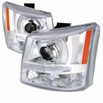 Chrome Projector Headlights + Bumper Lights (1PC)