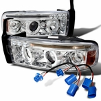 Chrome Projector Headlights with Wiring Harness