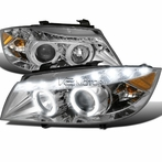 Chrome R8 Style Projector Headlights