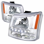 Chrome SMD LED Euro Headlights + Bumper Lights (1PC)