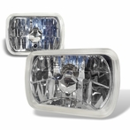 Chrome Universal Seal Beam Crystal Headlights