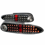 Clear/Black Euro LED Tail Lights