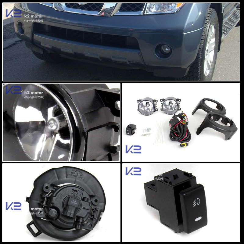 2005 2012 nissan pathfinder fog lights wiring and switch kit
