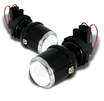 Clear Glass Lens Projector Fog Lights Kit