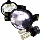 Clear SMD LED Fog Lights Kit