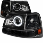 COMBO: Black Halo Projector Headlights + Corner Lights