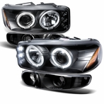 COMBO: Black Projector Headlights + Bumper Lights