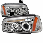 COMBO: Chrome Halo LED Projector Headlights + Corner Lights