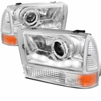 COMBO: Chrome LED Projector Headlights + Corner Lights
