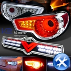 COMBO: Chrome LED Tail Lights + 3rd Brake Lights