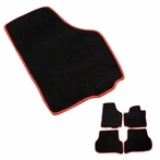 Floor Mat with Red Trim (Black)