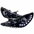 Glossy Black SMD LED Projector Headlights
