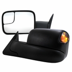 Manual Towing Mirror with LED Signal & Heat Function (Black)
