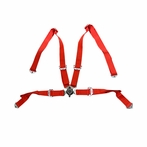 Nrg 4 Point Harness Cam Lock Seat Belt (Red)