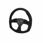 Nrg Steering Wheel D-Style With Suede Leather (Universal)