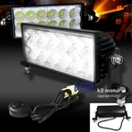 Pair of Universal 12 LED Work Fog Lights + Wiring Kit