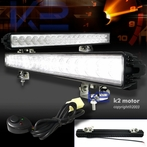 Pair of Universal 18 LED Work Fog Lights + Wiring Kit