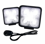 Pair of Universal 5 LED Work Fog Lamps + Wiring