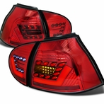 Red / Chrome 3D LED Tail Lights