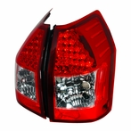 Red/Chrome Euro LED Tail Lights