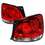 Red/Clear LED JDM Style Tail Lights