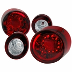 Red/Clear LED Tail Lights