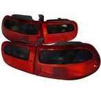 Red/Smoke JDM Style Tail Lights
