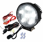 Round 4.5inch 6 LED Work Fog Lights - Black Housing w/wire