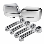 Side Mirror Cover Door Handle Cover (Chrome)