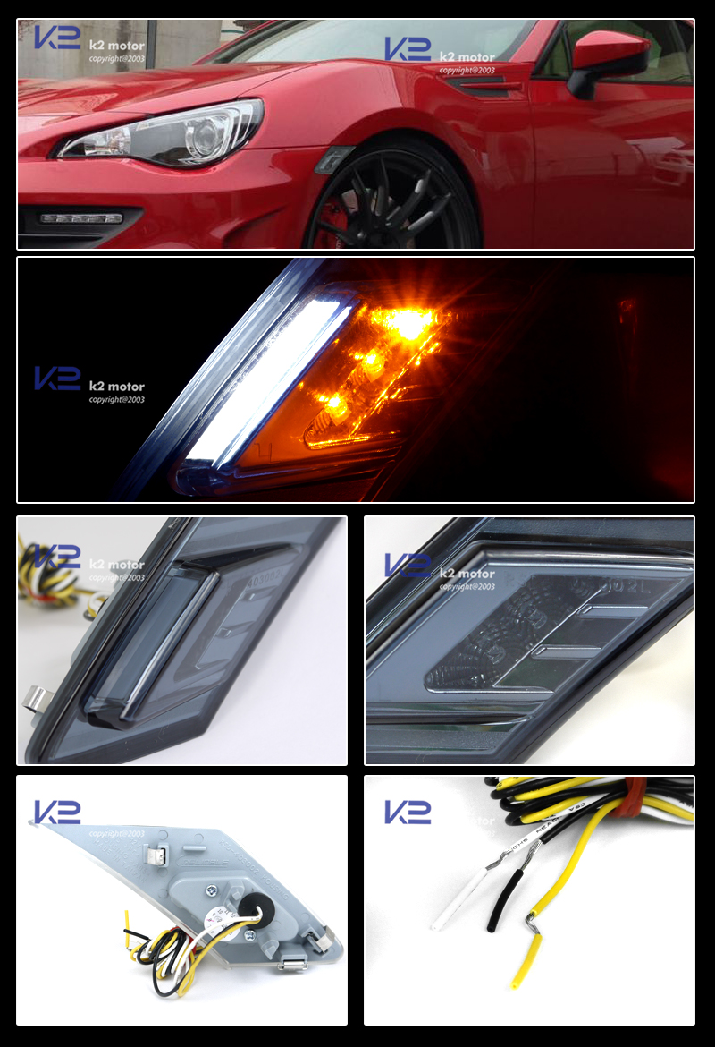 2012 2013 Scion Frs Subaru Brz Smoked Side Marker Lights