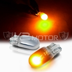 T10 Chrome Amber Invisible Light Bulbs 2 - Pieces