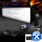 Universal 24 LED Work Fog Lights + Wiring Kit