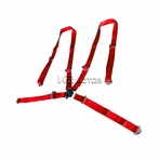 Universal 4 - Points Camlock Racing Seat Belt Harness (Red)