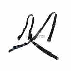 Universal 4Pt Camlock Racing Seat Belt Harness (Black)