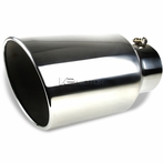 """Universal 8"""" Outlet Chrome Stainless Steel Bolt-on Exhaust"""