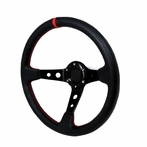 Universal Deep Dish Style Steering Wheel 320Mm (Black)