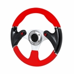 Universal F16 - Style Steering Wheel 320Mm (Red)