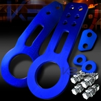 Universal Front and Rear Aluminum 2pc Tow Hook Kit (Blue)