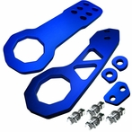 Universal Front and Rear Billet Style 2pc Tow Hook Kit (Blue)