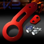 Universal JDM Style Aluminum Rear Tow Hook (Red)